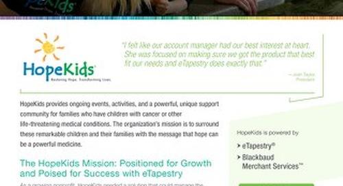 eTapestry Customer Spotlight: HopeKids