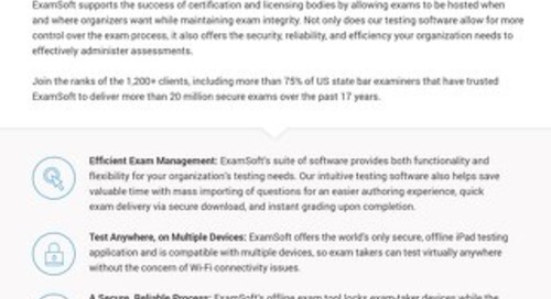 ExamSoft for Certification Programs