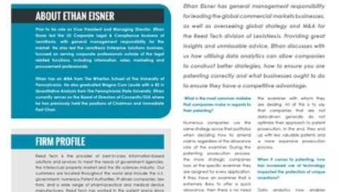 Ethan Eisner interviewed in the March issue of Lawyer Monthly