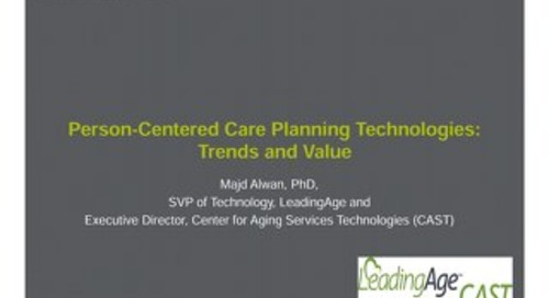 Majd Alwan: Person-Centered Care Planning Technologies