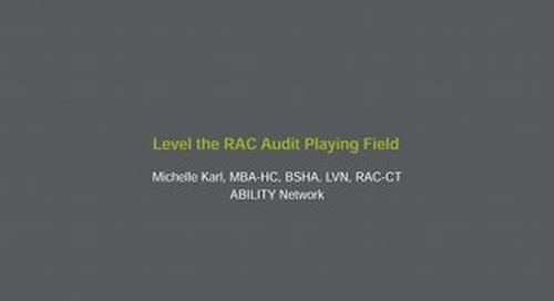 Michelle Karl: Level the RAC Audit Playing Field