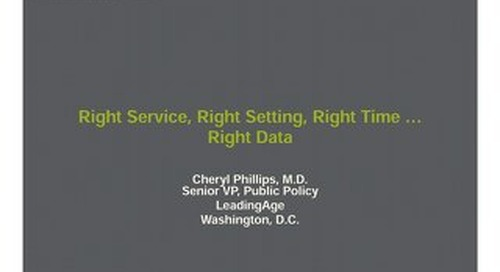 Cheryl Phillips: Right Service, Right Setting, Right Time … Right Data