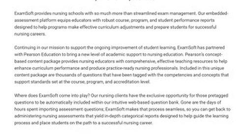 Pearson + ExamSoft