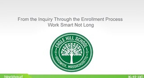 From the Inquiry Through the Enrollment Process - Work Smart Not Long