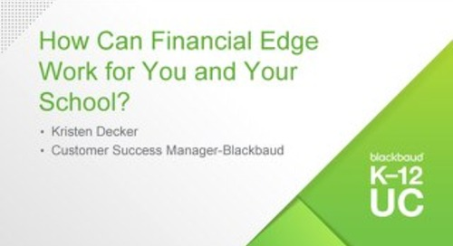 How Can Financial Edge Work for You and Your School-