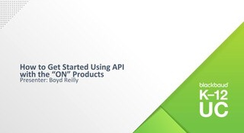 "How to Get Started Using API  with the ""ON"" Products"