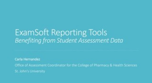 ExamSoft Reporting Tools Benefiting from Student Assessment Data