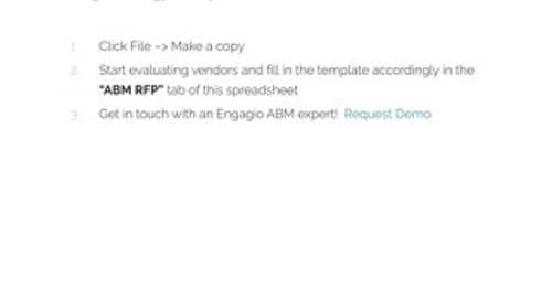 Account Based Marketing RFP Template