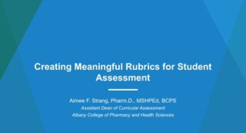 AOT St. Louis - Creating Meaningful Rubrics for Student Assessment