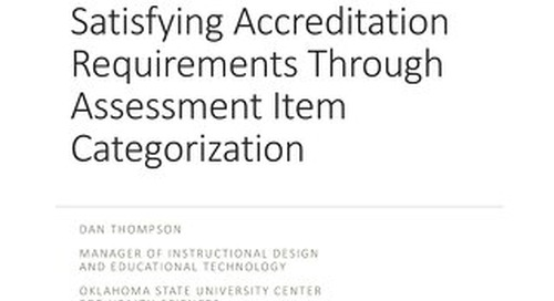 AOT Toronto - Satisfying Accreditation Requirements through Assessment Item Categorization