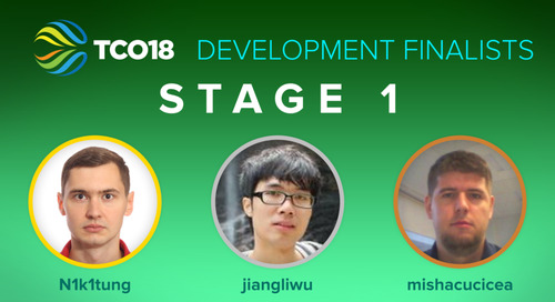 TCO18 Stage 1 Finalists