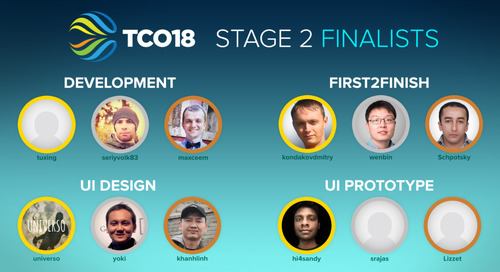 TCO18 Stage 2 Winners Announced!