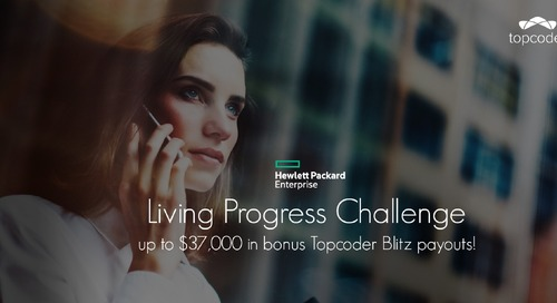 HPE Crowdsourcing – Living Progress Challenge: Design & Development Topcoder Blitz