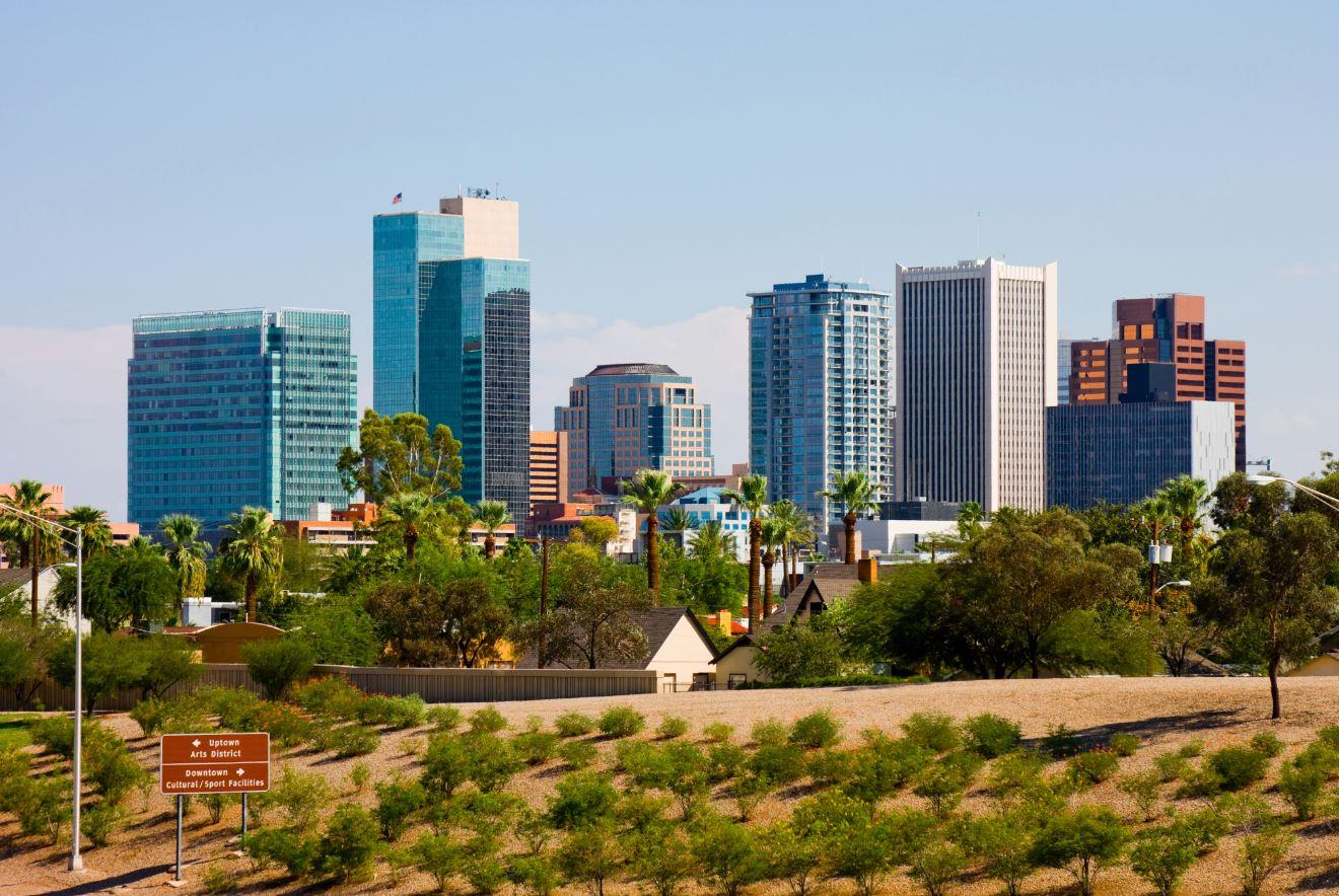 Business skyline of Phoenix, Arizona
