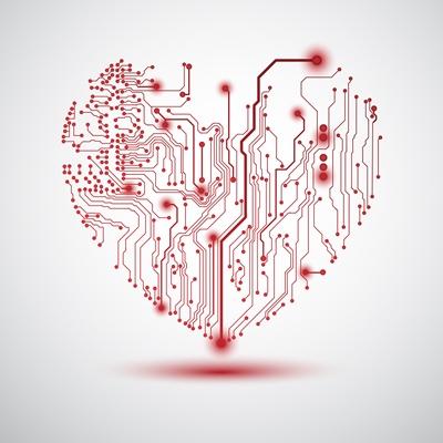 A heart made of transistors