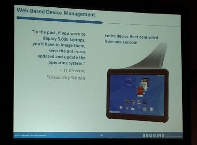 Samsung talet displayed in powerpoint presentation