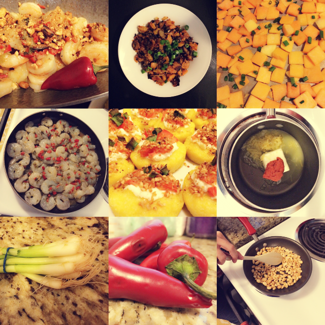 Collage of each of the recipes and various vegetables used in the recipes