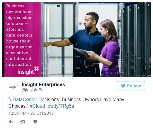 Tweet displayed from @Insight Enterprises