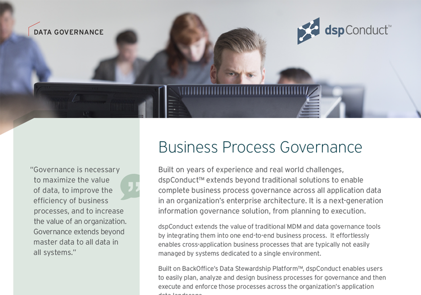 dspConduct — Business Process Governance