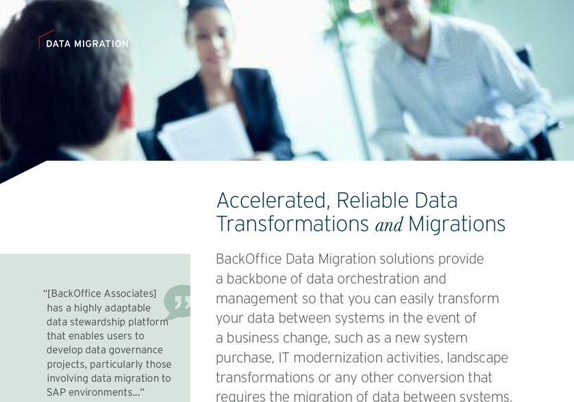Data Migrations and Transformations