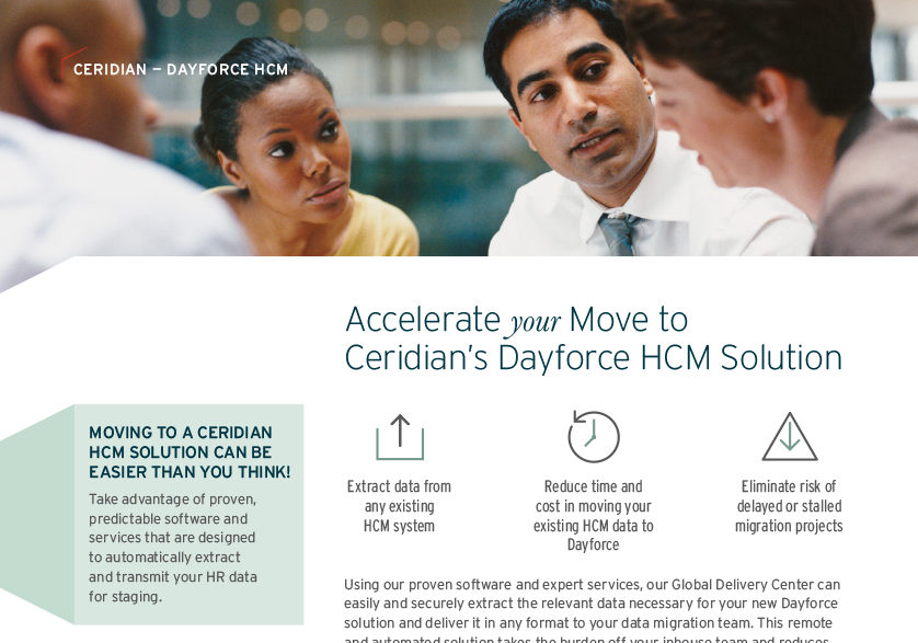 Accelerate your Move to Ceridian's Dayforce HCM Solution