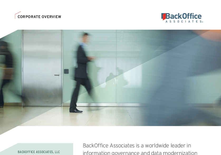 BackOffice Associates Corporate Overview