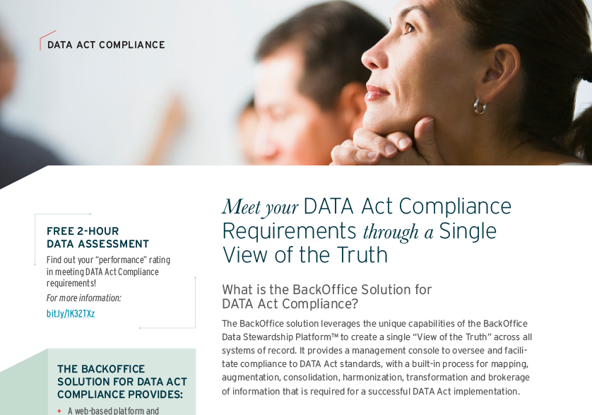 Meet Your DATA Act Compliance Requirements