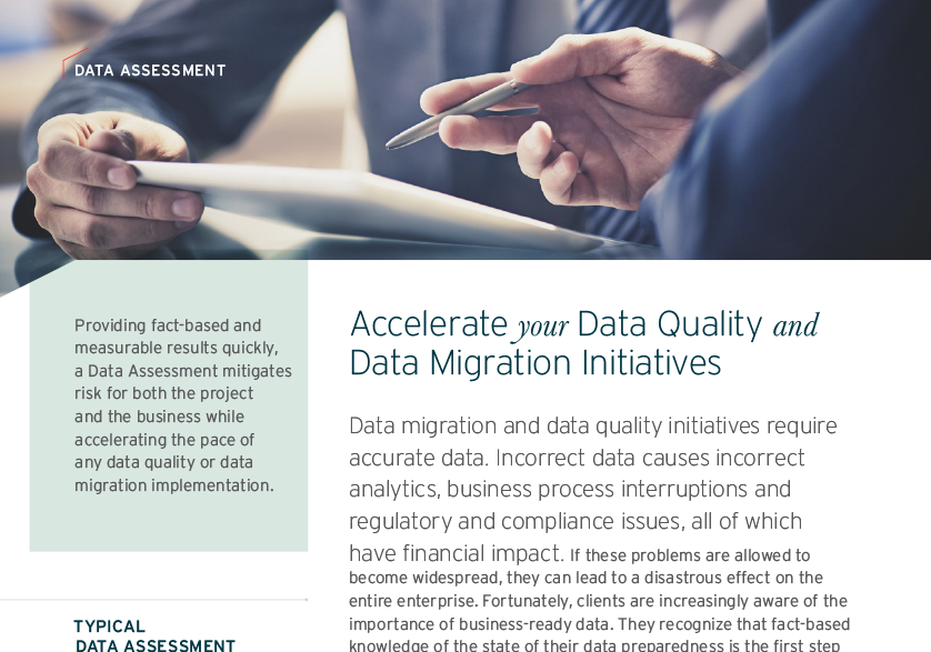 Accelerate your Data Quality and Data Migration Initiatives