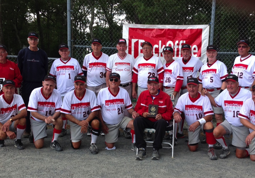 Image_Champion BackOffice Associates 75s Softball Team with Manager Rich Sullivan