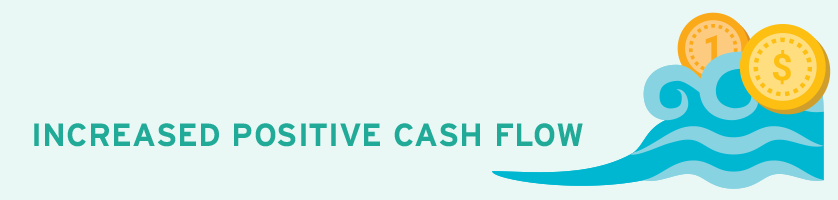Increased Positive Cash Flow