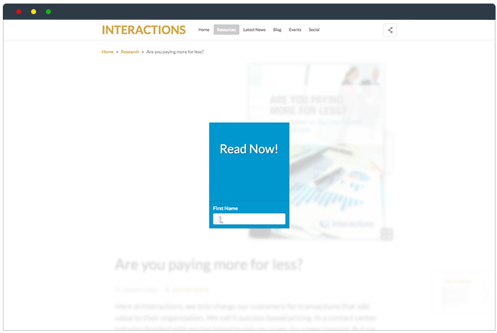 Interactions hub