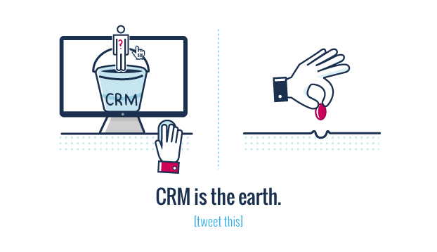 A lead is a seed and CRM is the earth.
