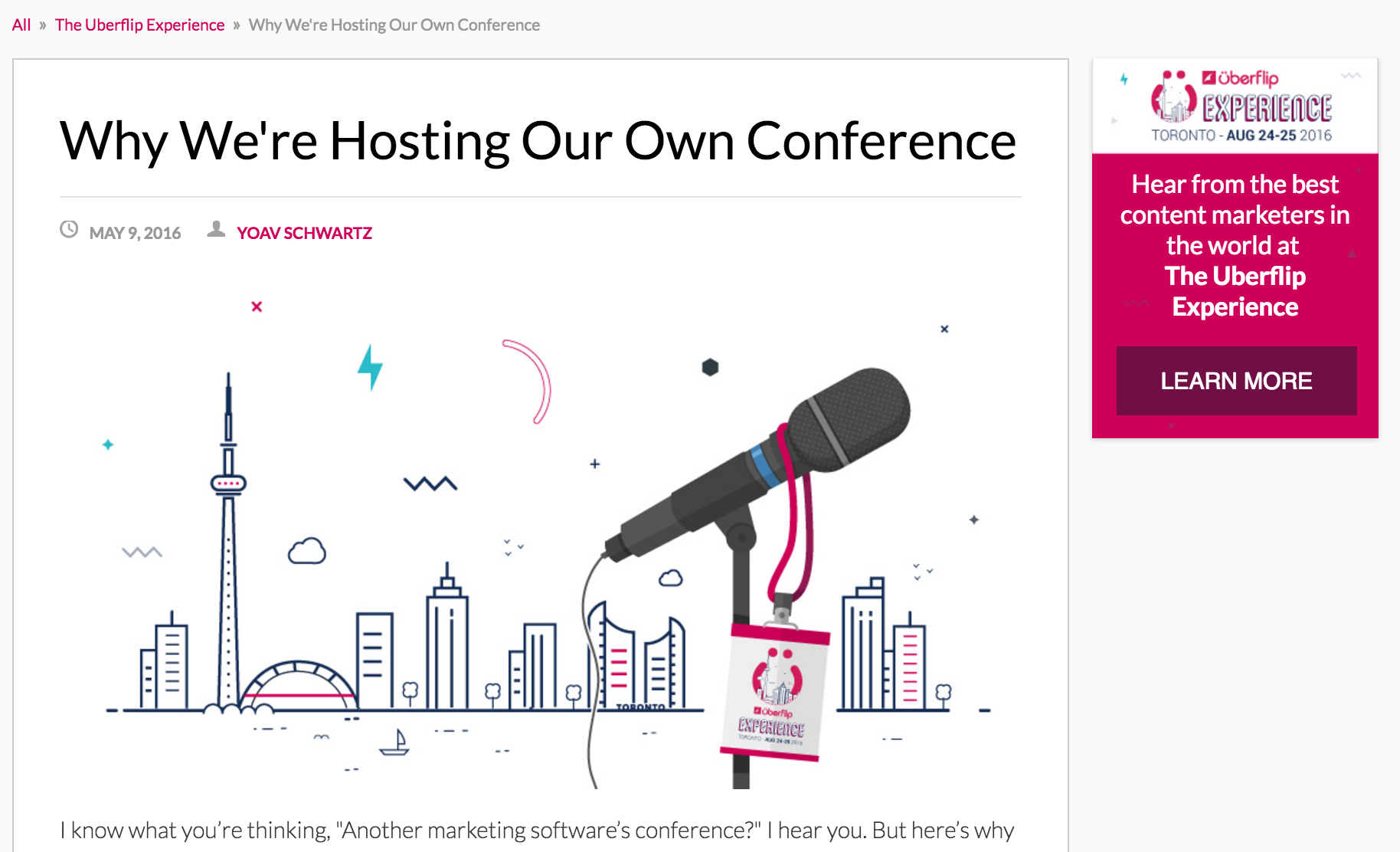 Why we're hosting our own conference blog