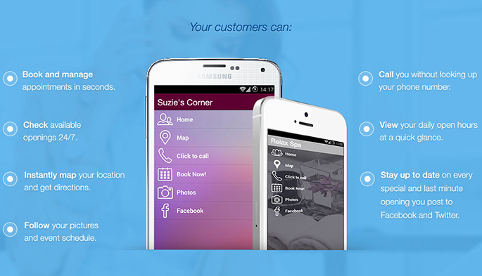 Customized mobile app for your business - Booker Customer App