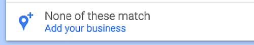 listed on google