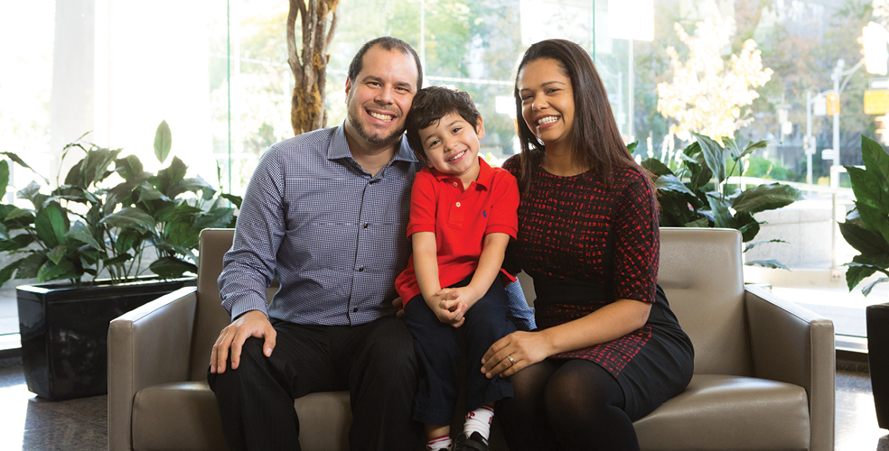 Mauro with son João Matteo and wife Tania