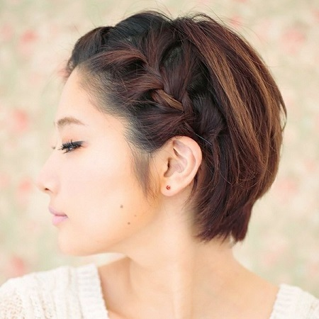 Inspirasi Kepang Untuk Si Rambut Pendek - Gaya rambut pendek kepang