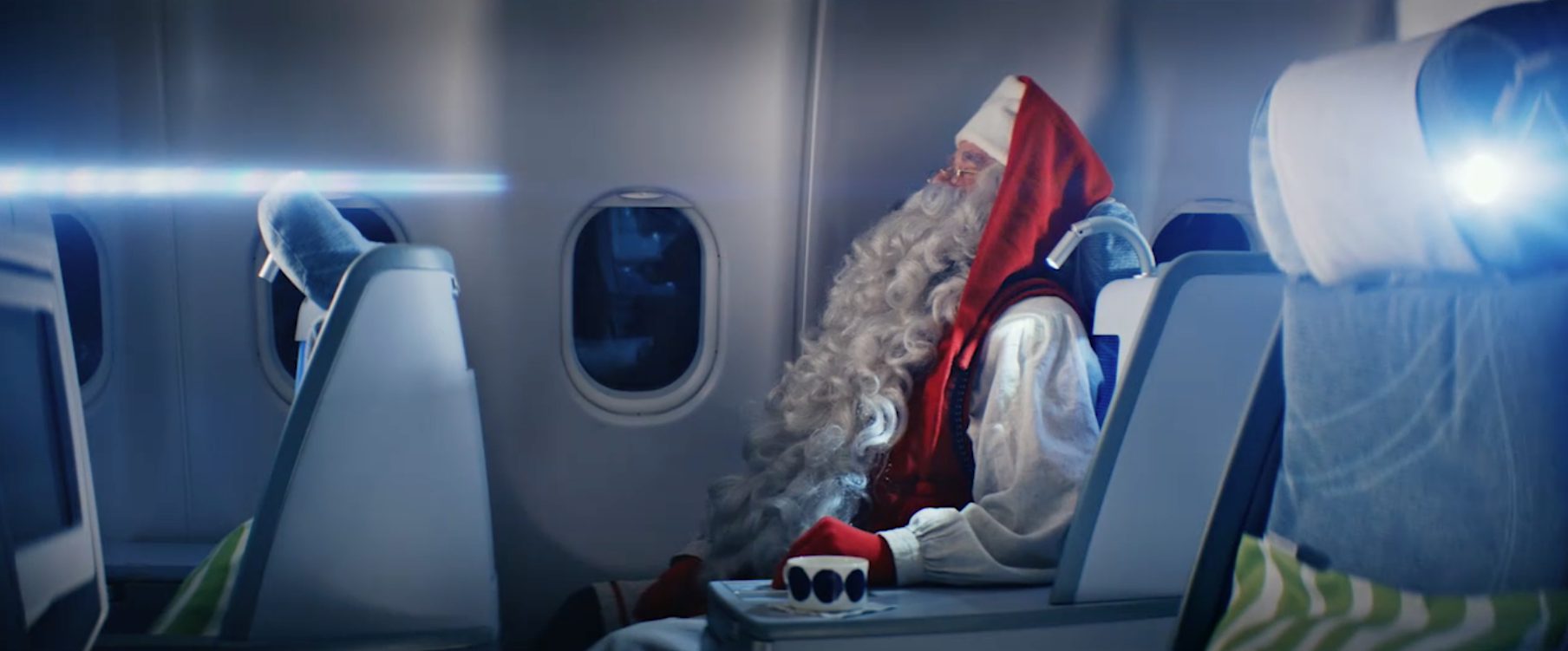 Header Santa Claus Christmas for airlines