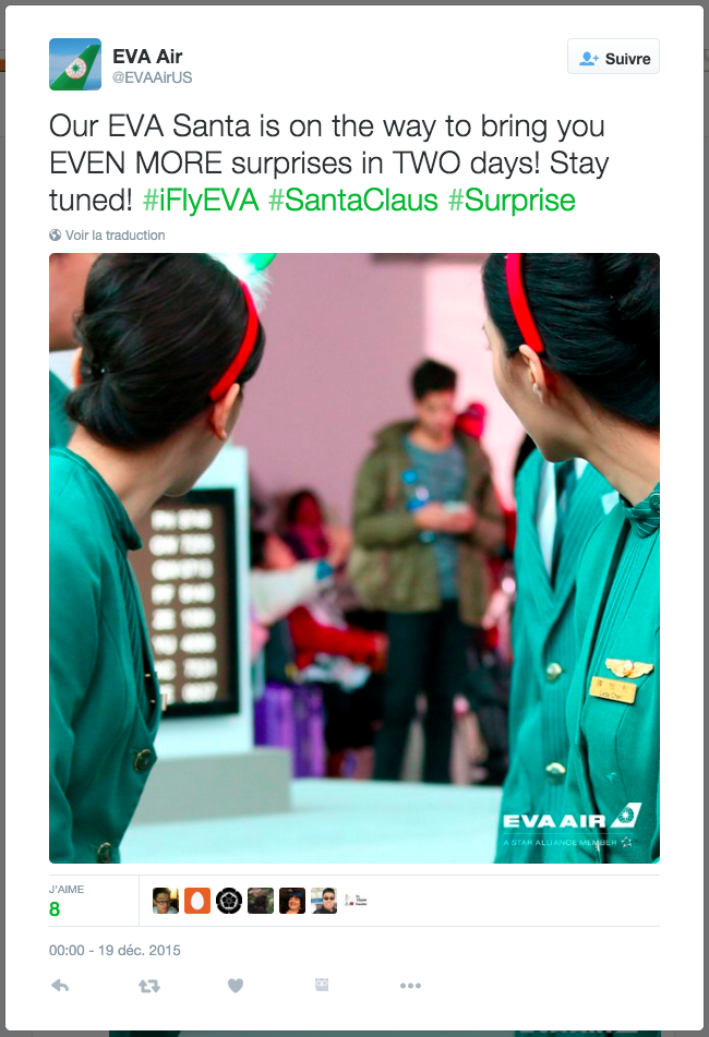 Eva Air Tweet