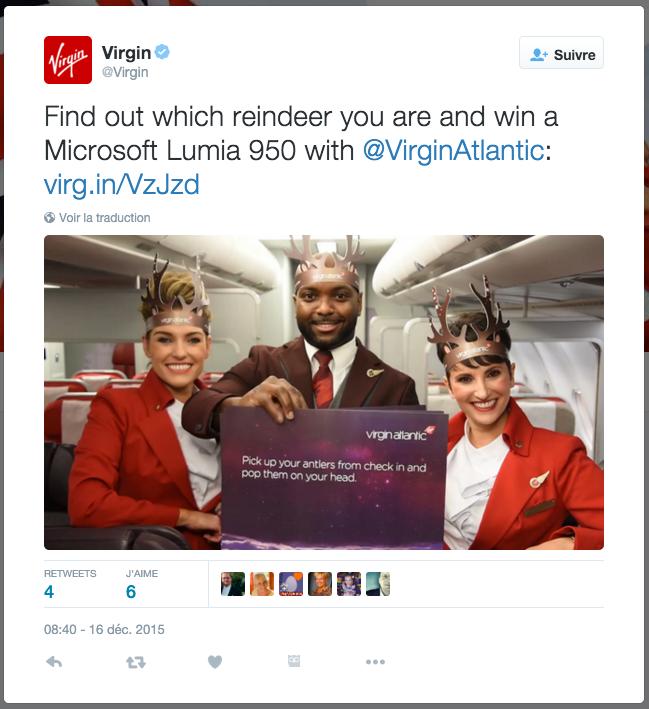 Virgin Tweet