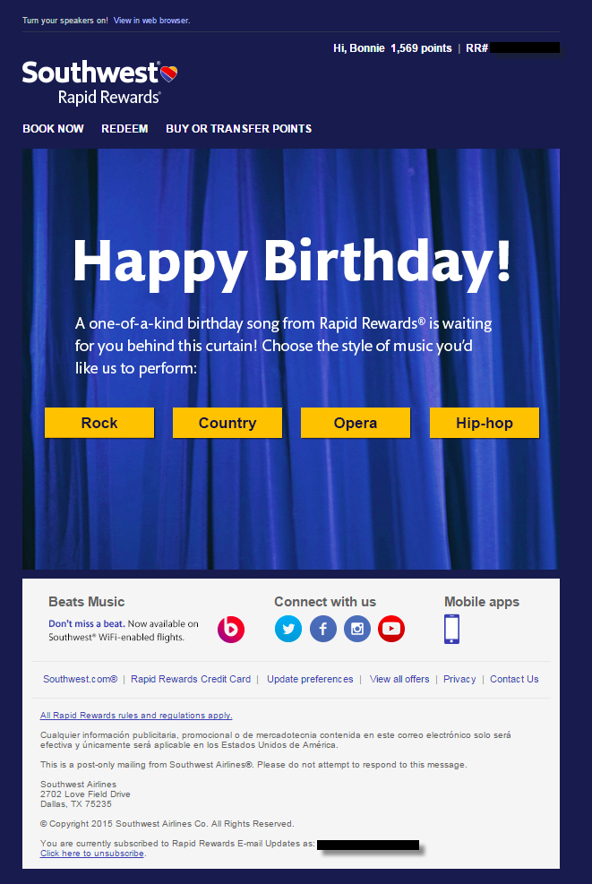 Email showdown: Southwest vs. JetBlue