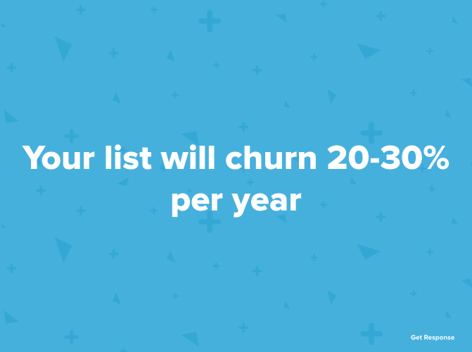 Your list will church 20-30% year-over-year