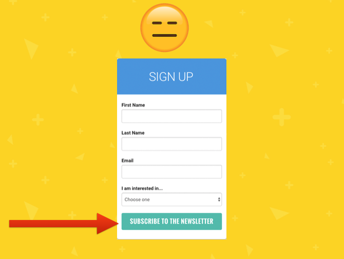 Vague copy, no value proposition – what NOT to do in your signup form