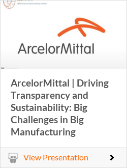 ArcelorMittal   Driving Transparency and Sustainability: Big Challenges in Big Manufacturing