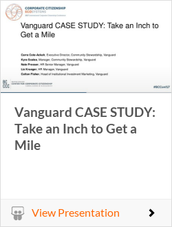 Vanguard CASE STUDY: Take an Inch to Get a Mile