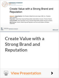 Create Value with a Strong Brand and Reputation