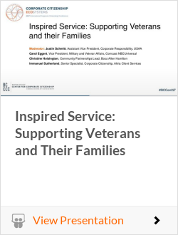 Inspired Service: Supporting Veterans and Their Families