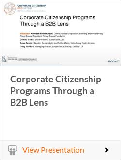 Corporate Citizenship Programs Through a B2B Lens