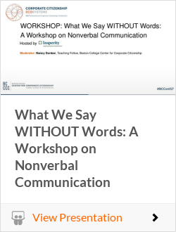 What We Say WITHOUT Words: A Workshop on Nonverbal Communication