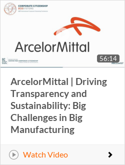 Arcelor Mittal   Driving Transparency and Sustainability: Big Challenges in Big Manufacturing